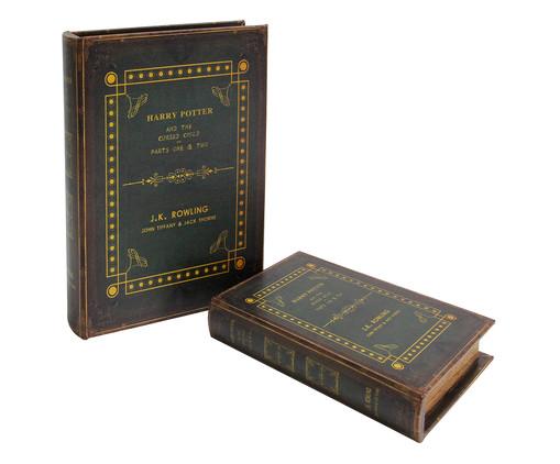 Jogo de Book Boxes Harry Potter, Preto,Marrom | WestwingNow