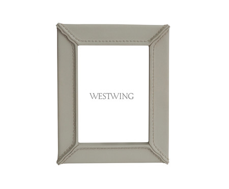 Porta-Retrato em Resina Amado - Cinza | WestwingNow