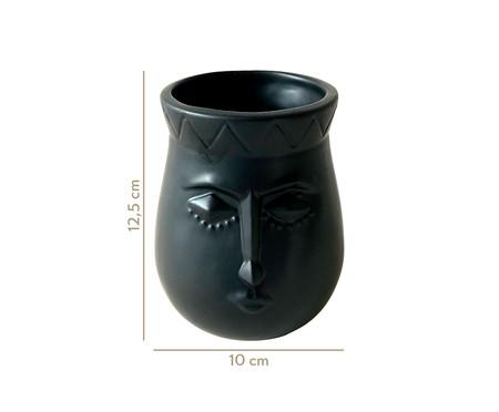 Vaso em Cerâmica Joana - Preto | WestwingNow