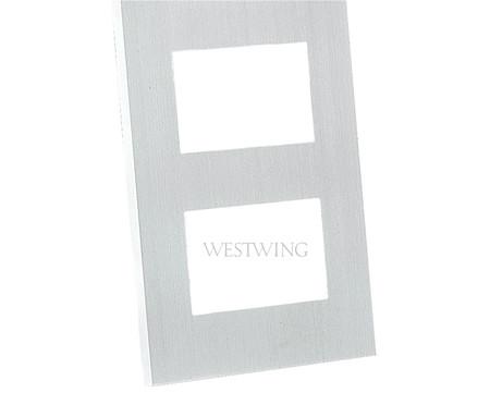 Porta-Retrato em Alumínio Arts - Branco | WestwingNow