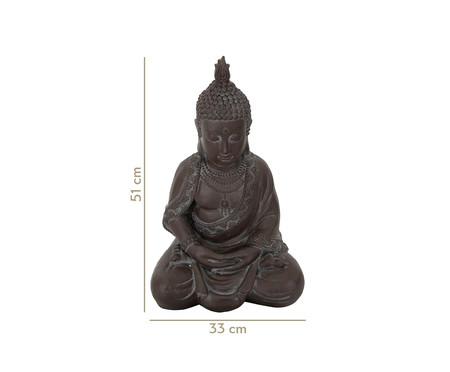 Escultura em Resina Buddha Cemil - Marrom | WestwingNow