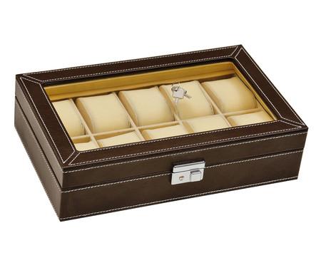 Caixa Organizadora para Relógios Trindade - Marrom | WestwingNow