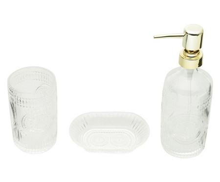 Jogo para Banheiro em Vidro Delia - Transparente | WestwingNow