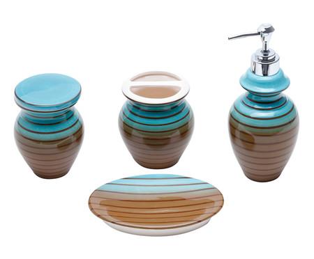 Jogo para Banheiro em Cêramica Lidia - Colorido | WestwingNow