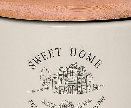 Pote para Sal em Cerâmica Sweet Home Round | WestwingNow