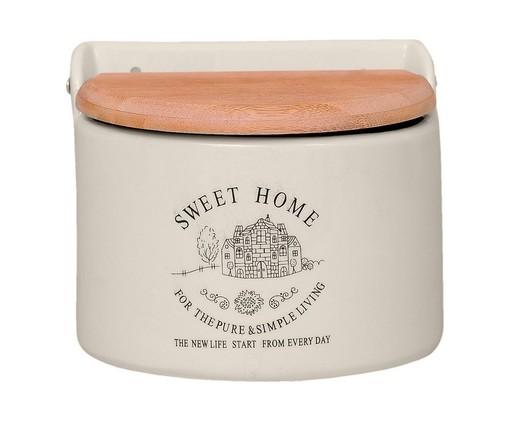 Pote para Sal em Cerâmica Sweet Home Round, Bege | WestwingNow
