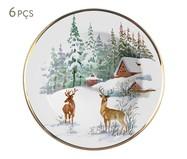 Jogo de Pratos Fundos em Cerâmica Archie 06 Pessoas - Branco | WestwingNow