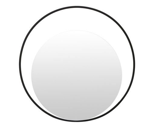 Espelho de Parede Redondo de Metal Gentire - Preto, Preto | WestwingNow