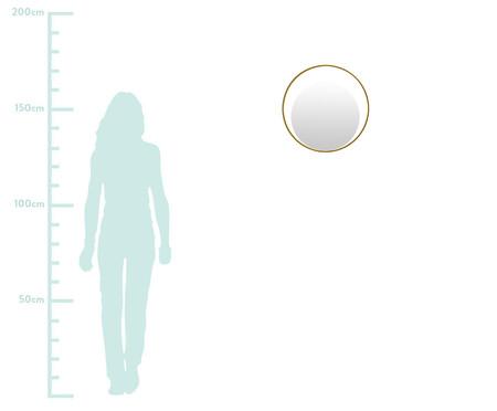 Espelho de Parede Redondo de Metal Gentire Dourado - 30cm | WestwingNow