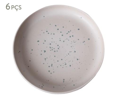 Jogo de Pratos para Sobremesa Argila, Rosa,Verde | WestwingNow