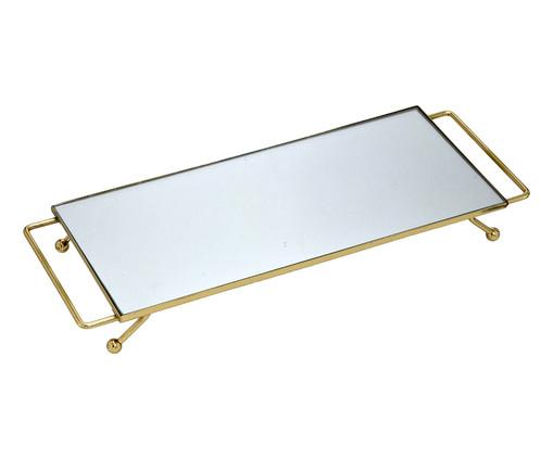Bandeja Decorativa Espelhada Tal - Dourada, Dourado, Espelhado | WestwingNow