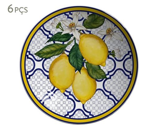 Jogo de Bowls em Cerâmica Coup Sicilia 06 Pessoas - Azul, Azul,amarelo | WestwingNow
