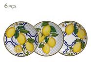 Jogo de Pratos para Sobremesa em Cerâmica Sicilia - Colorido | WestwingNow