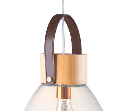 Pendente Lampadari Transparente Natural Bivolt - 130X29cm | WestwingNow