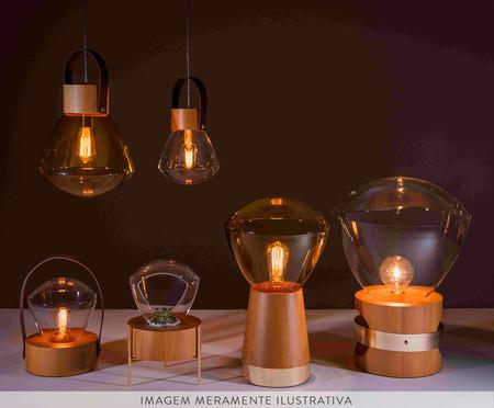 Pendente Lampadari Transparente Castanho Bivolt - 130X19cm | WestwingNow
