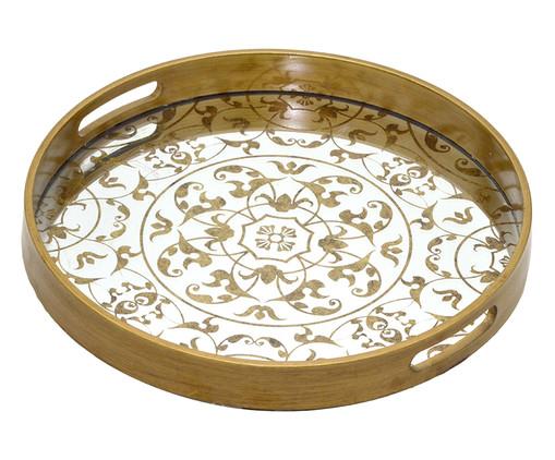 Bandeja Decorativa Claire - Dourada, Dourado, Prata / Metálico   WestwingNow
