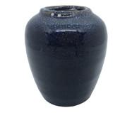 Vaso em Cerâmica Azul Escuro Lais - 10cmx11cm | WestwingNow