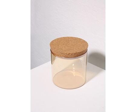 Pote Organizador em Vidro Cookie Âmbar - 10X8,5cm | WestwingNow