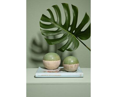 Esfera Decorativa em Cerâmica Lopez ll - Verde | WestwingNow