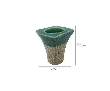 Porta-Vela em Cerâmica Lopez- Verde | WestwingNow