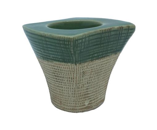 Porta-Vela em Cerâmica Lopez- Verde, Bege,Verde   WestwingNow