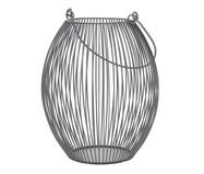 Lanterna em Ferro Cinza Regis - 17X21X17cm | WestwingNow
