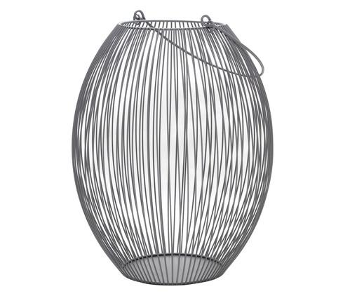 Lanterna em Ferro Cinza Rigis - 22X31X22cm, Cinza | WestwingNow