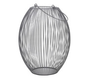 Lanterna em Ferro Cinza Rigis - 22X31X22cm | WestwingNow