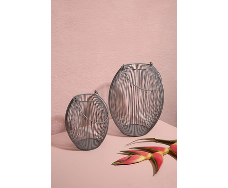 Lanterna em Ferro Regisll - Cinza | WestwingNow