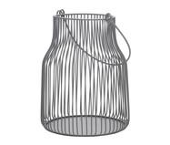 Lanterna em Ferro Cinza Sánchez - 16X21,X16cm | WestwingNow
