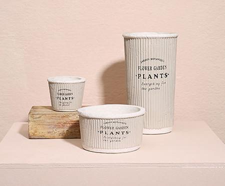 Cachepot Pottery Cinza - 13,3cm | WestwingNow