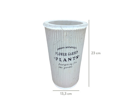 Cachepot Pottery Cinza - 13,3cm   WestwingNow