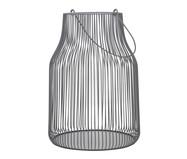 Lanterna em Ferro Cinza Sánchez - 22X31X22cm | WestwingNow