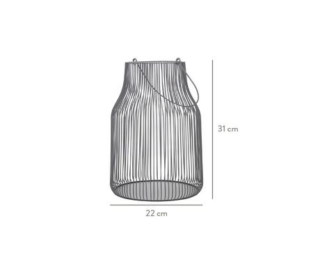 Lanterna em Ferro Sánchez ll - Cinza | WestwingNow