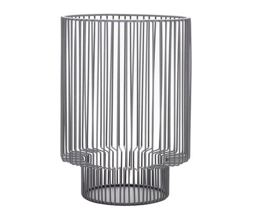 Lanterna em Ferro Martinez - Cinza, Cinza | WestwingNow