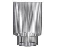 Lanterna em Ferro Cinza Rodriguez- 19,5X28X19,5cm | WestwingNow