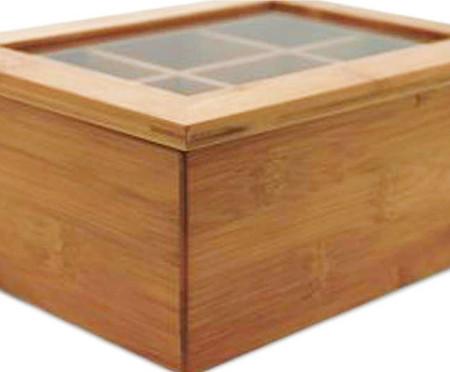 Caixa Organizadora para Chá em Bambu Ian - 21,5X9,1X16cm | WestwingNow