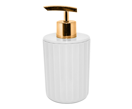Dispenser para Sabonete Líquido Ligia Branco - 400ml, Branco   WestwingNow