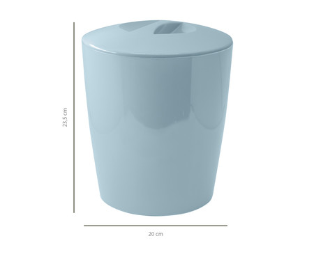 Lixeira Aguiar Azul Claro- 5L | WestwingNow
