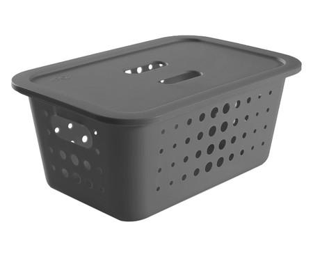 Caixa Organizadora Luiza - Cinza 50L | WestwingNow