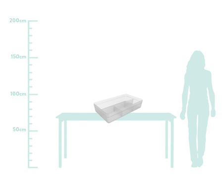 Caixa Organizadora  Zila Transparente - 34,6X7,5X20cm | WestwingNow