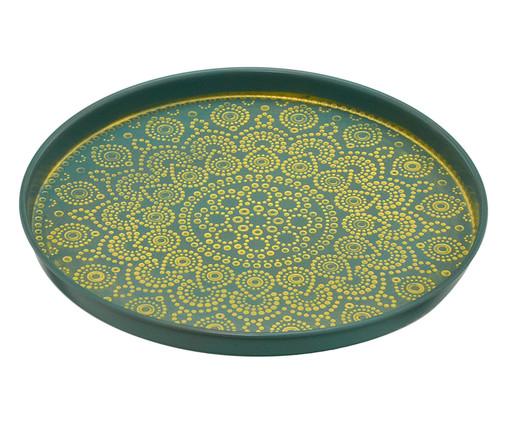 Prato Decorativo Sharon - Verde e Dourado, Verde, Dourado | WestwingNow