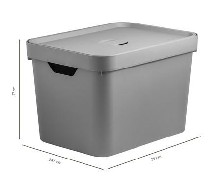 Caixa Organizadora Helena - Cinza 18L | WestwingNow