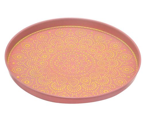 Prato Decorativo Sharon - Rosa e Dourado, Vermelho, Dourado | WestwingNow