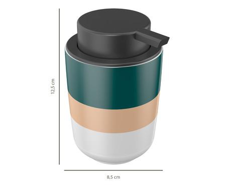 Dispenser para Sabonete Líquido em Cerâmica Osaka Listras - 200ml | WestwingNow