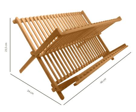 Escorredor de Pratos em Bambu Max - 46x23x5x34cm | WestwingNow