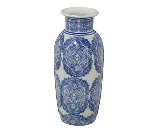 Vaso em Porcelana Samantha - Azul e Branco, Branco, Azul | WestwingNow