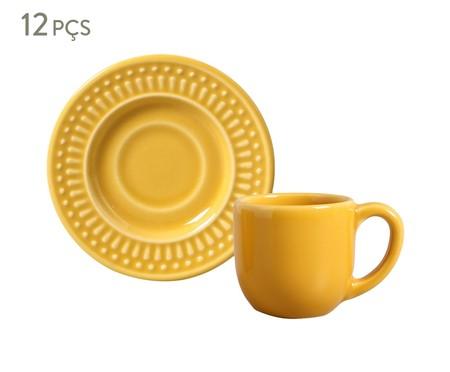 Jogo de Xícaras para Café com Pires em Cerâmica Roma - Mostarda   WestwingNow