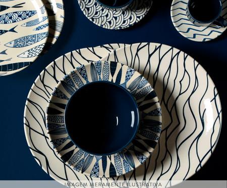 Jogo de Pratos para Sobremesa em Cerâmica Coup Al Mare - Azul | WestwingNow