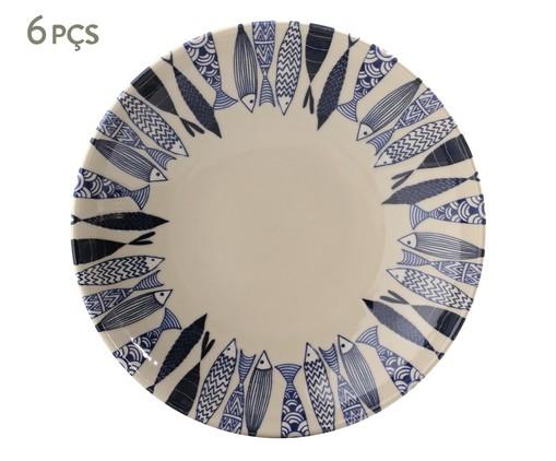 Jogo de Pratos Fundos em Cerâmica Coup Al Mare - Azul, Azul   WestwingNow
